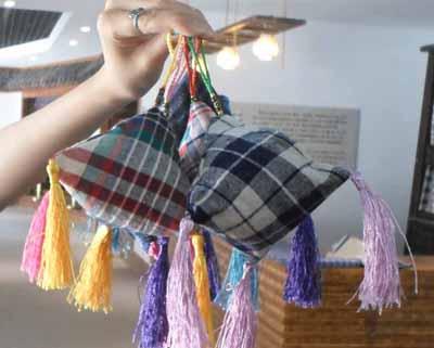 布织布拼贴画作品